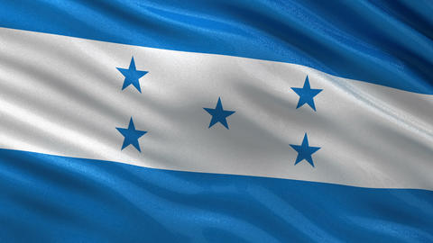 Flag of Honduras seamless loop Animation