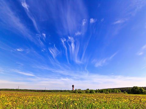 Bright summer landscape. Time Lapse. 4x3 Footage