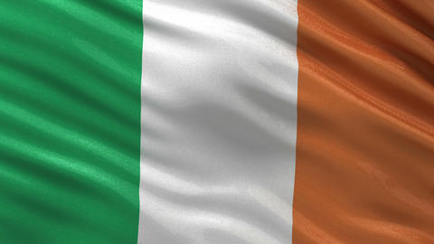 Flag of Ireland seamless loop Animation