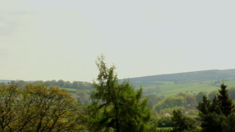 Slide shot of English landscape 2 Footage