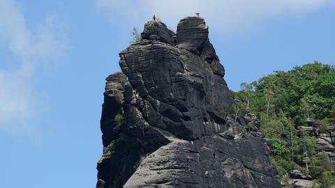 4 K UHD free climbing mountain rock time lapse Stock Video Footage