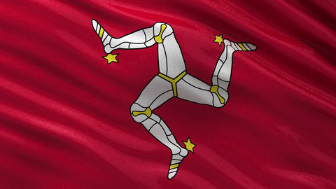 Flag of the Isle of Man seamless loop Animation