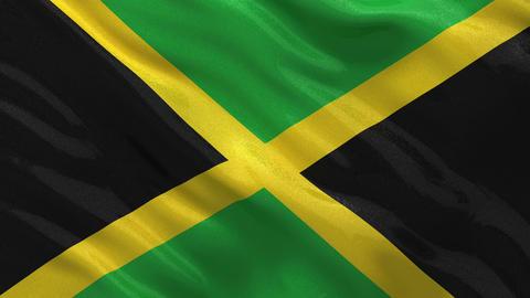 Flag of Jamaica seamless loop Stock Video Footage