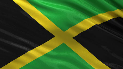Flag of Jamaica seamless loop Animation