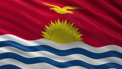 Flag of Kiribati seamless loop Animation