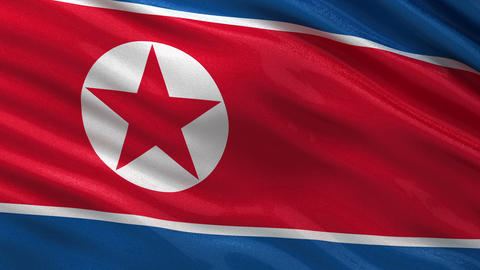 Flag of North Korea seamless loop Animation