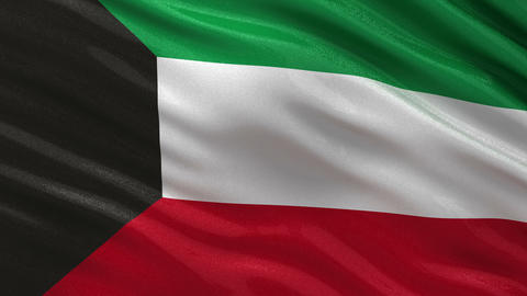 Flag of Kuwait seamless loop Animation