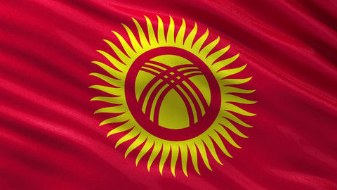 Flag of Kyrgyzstan seamless loop Animation