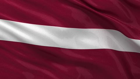 Flag of Latvia seamless loop Stock Video Footage