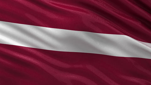 Flag of Latvia seamless loop Animation