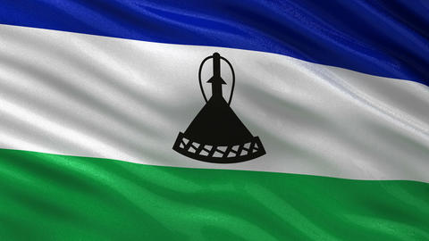 Flag of Lesotho seamless loop Animation