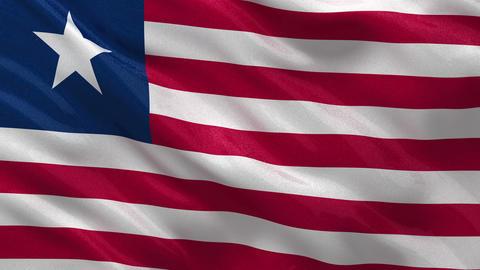 Flag of Liberia seamless loop Stock Video Footage