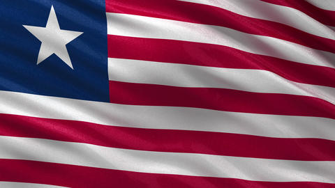Flag of Liberia seamless loop Animation
