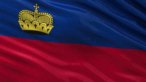 Flag of Liechtenstein seamless loop Animation