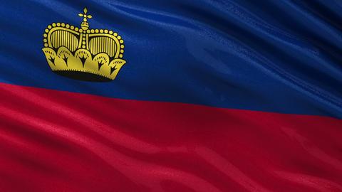 Flag of Liechtenstein seamless loop Animation