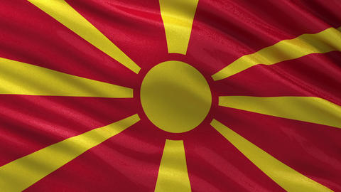 Flag of Macedonia seamless loop Animation