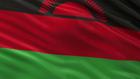 Flag of Malawi seamless loop Animation