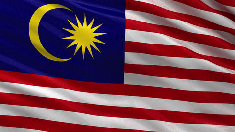 Flag of Malaysia seamless loop Animation
