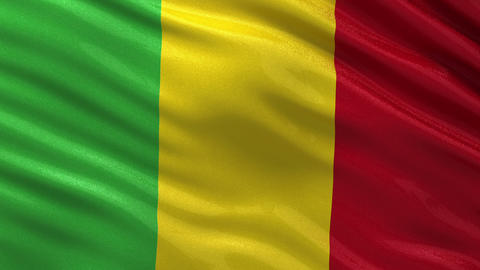 Flag of Mali seamless loop Animation