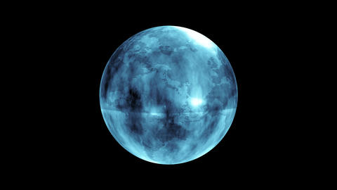 Earth Orb Blue stock footage