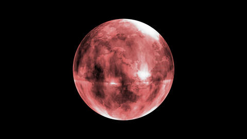 Earth Orb Red Animation