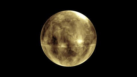 Earth Orb Yellow Animation