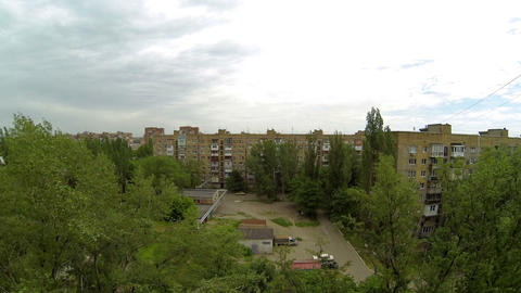 Clouds over the city. diurnal motion, Makeevka, Uk Stock Video Footage