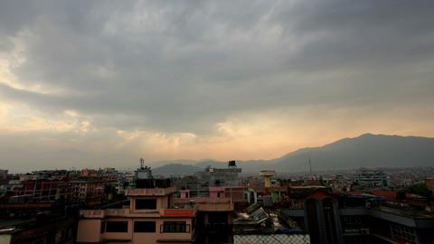 Timelapse sunset in Kathmandu. Nepal, Full HD Footage