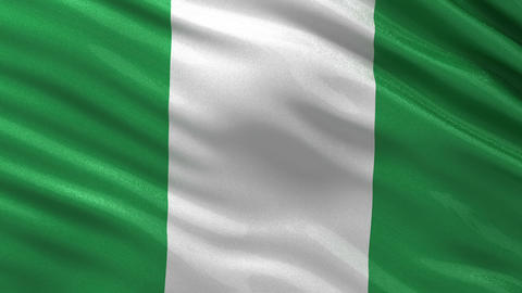Flag of Nigeria seamless loop Animation