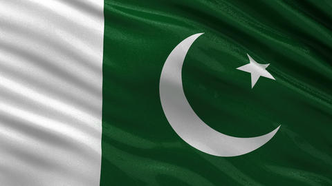 Flag of Pakistan seamless loop Animation