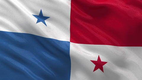 Flag of Panama seamless loop Stock Video Footage