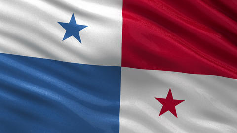 Flag of Panama seamless loop Animation