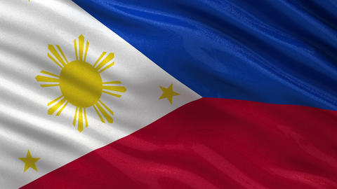 Flag of the Philippines seamless loop Animation