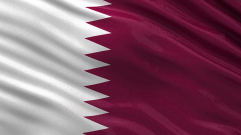 Flag of Qatar seamless loop Animation
