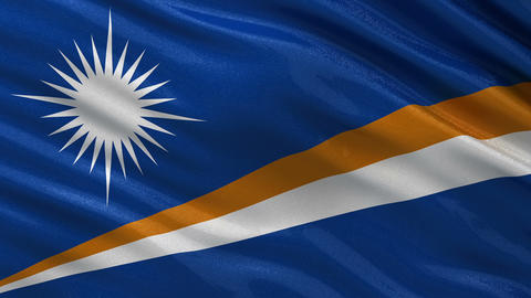 Flag of the Marshall Islands seamless loop Animation