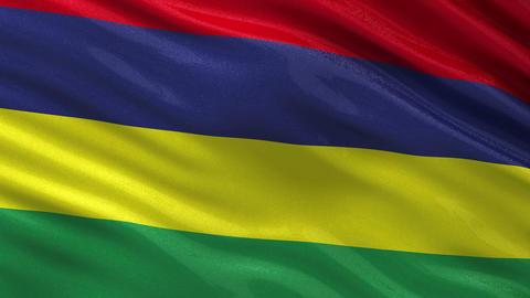 Flag of Mauritius seamless loop Animation