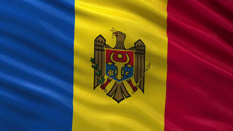 Flag of Moldova seamless loop Animation