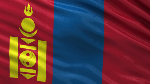 Flag of Mongolia seamless loop Animation