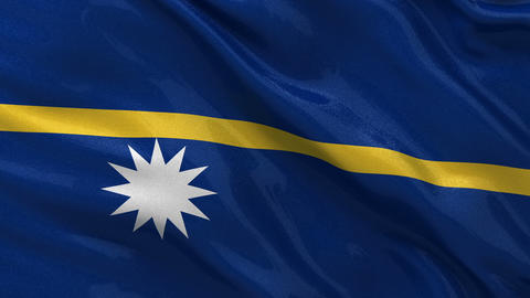 Flag of Nauru seamless loop Stock Video Footage