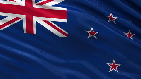 Flag of New Zealand seamless loop Animation