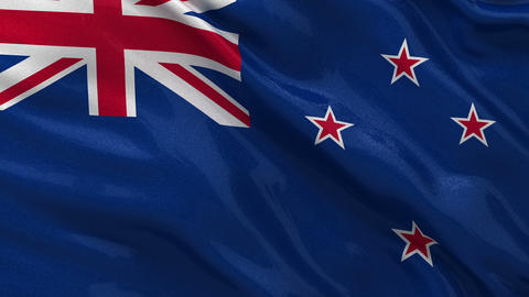 Flag of New Zealand seamless loop Stock Video Footage