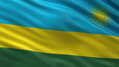 Flag of Rwanda seamless loop Animation