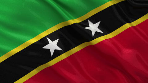 Flag of Saint Kitts and Nevis seamless loop Stock Video Footage