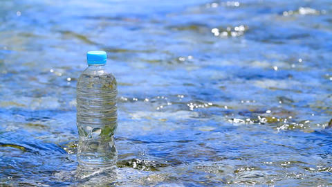 Pet bottle of mineral water Footage