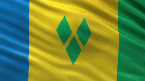 Flag of Saint Vincent and the Grenadines seamless  Animation