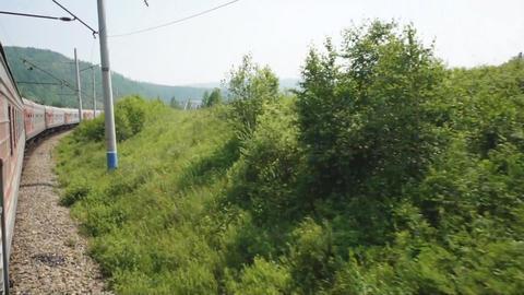 Train Transsib Zabaikalye 07 Stock Video Footage