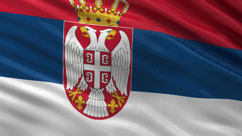 Flag of Serbia seamless loop Animation