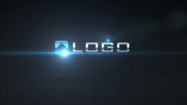 Simple Dark 3D Logo Spin Reveal Animation with Opt After Effects Template