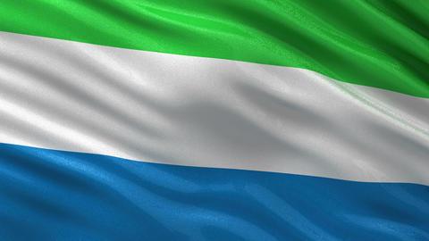 Flag of Sierra Leone seamless loop Animation