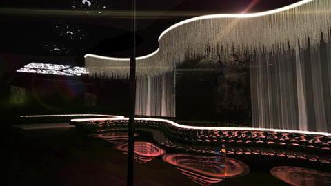 karaoke night club led soft light effect Stock Video Footage